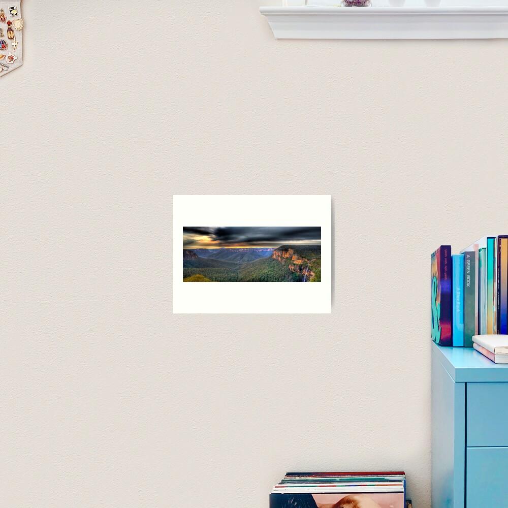 Govetts Leap Sunrise Panorama Art Print