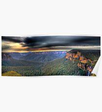 Govetts Leap Sunrise Panorama Poster