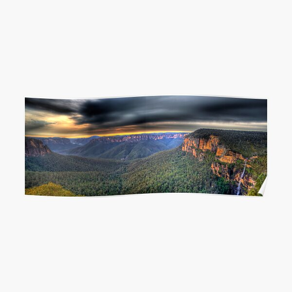 Govetts Leap Sunrise Panorama Poster