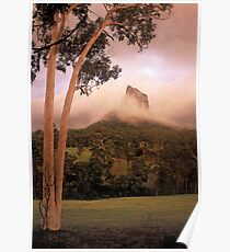 Passing thunderstorm. Mt Coonowrin. Queensland. Poster