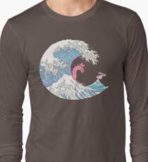 Psychodelic Bubblegum Kunagawa Surfer Cat T-Shirt
