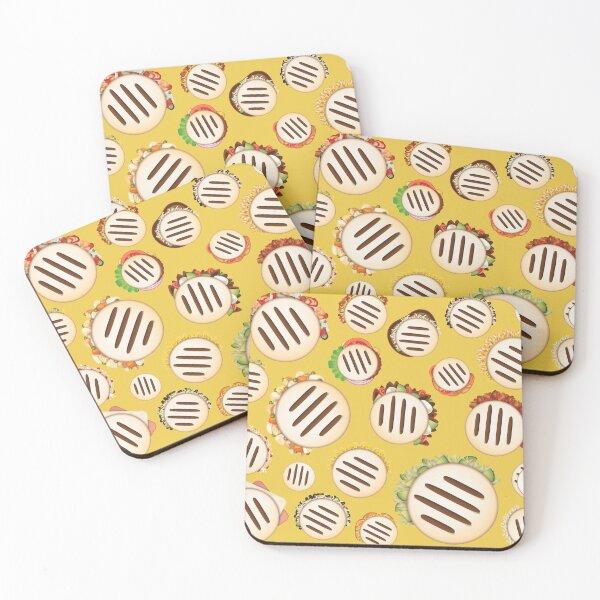 Arepas Pattern Venezuela Yellow Coasters (Set of 4)