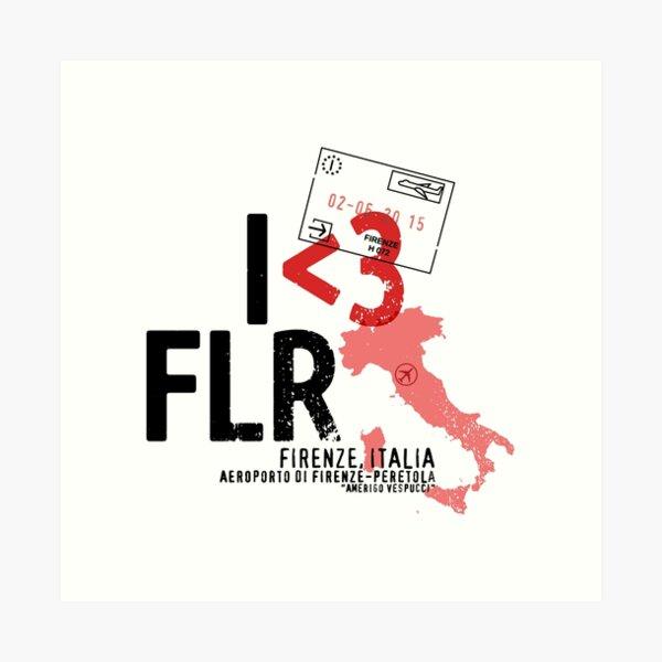 I ♥ Florence (FLR) Aviation Stamp Art Print