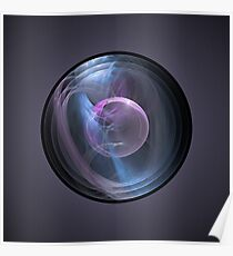 Captive Bubble Abstract Fractal Poster