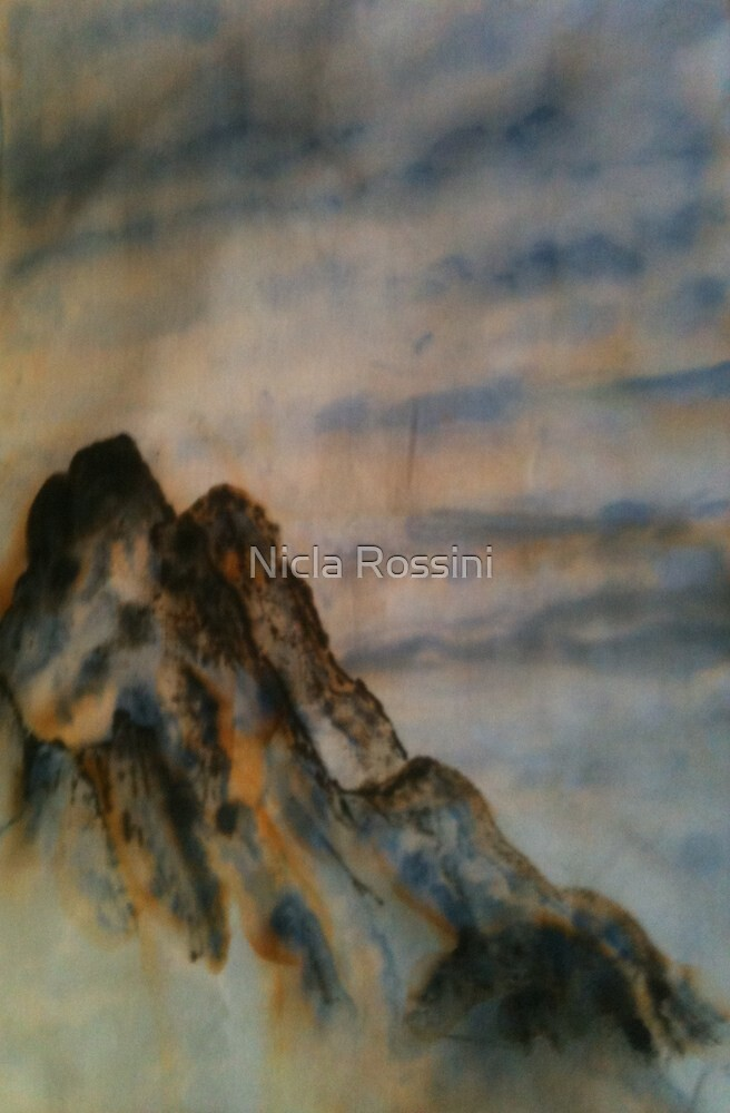 Chinese ink - Mountains by Nicla Rossini