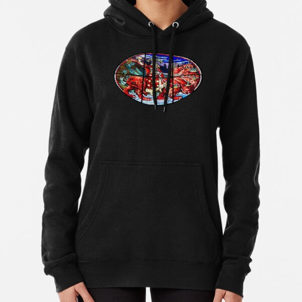 Whore of Babylon. Riding the seven headed Beast. Pullover Hoodie
