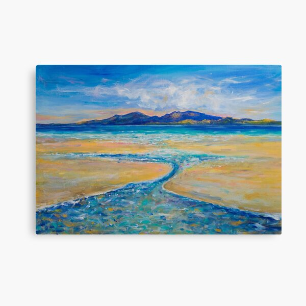 Scalpsie Bay, Bute - Golden Summer's day Canvas Print