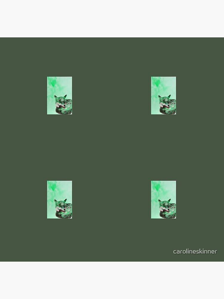 Green Fox Pattern by carolineskinner