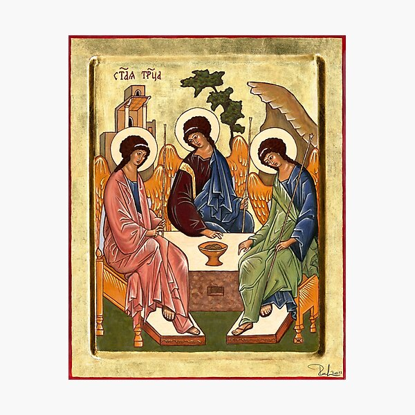 Icon of the Trinity Photographic Print