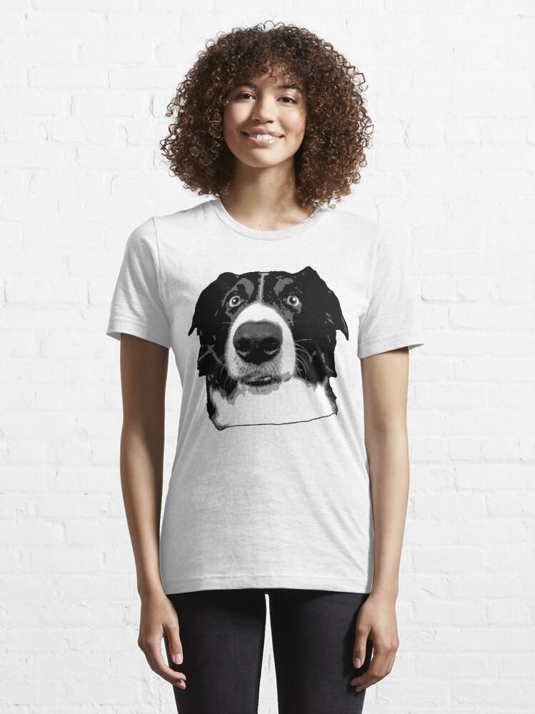 Alternative Ansicht von Border Collie Face Essential T-Shirt