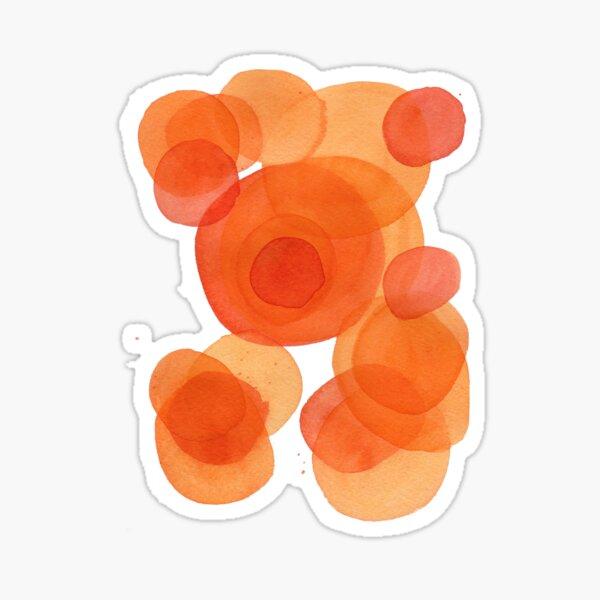 Orange drops, watercolor transparencies Sticker