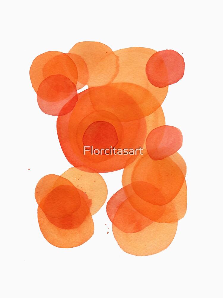 Orange drops, watercolor transparencies by Florcitasart