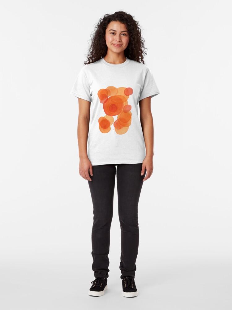 Alternate view of Orange drops, watercolor transparencies Classic T-Shirt