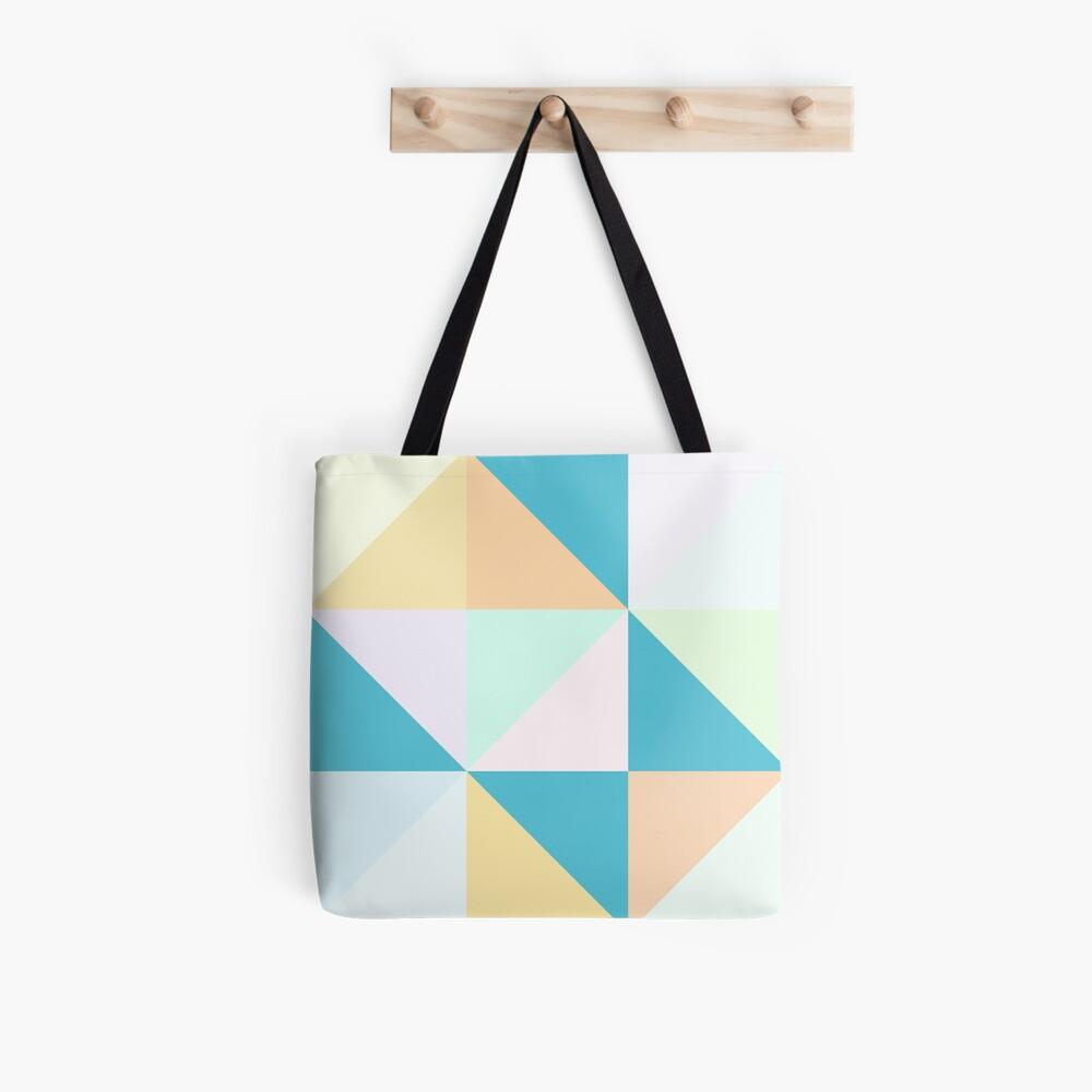 Geometric Creamsicle Tote Bag