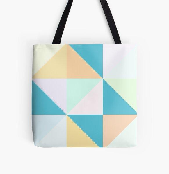 Geometric Creamsicle All Over Print Tote Bag