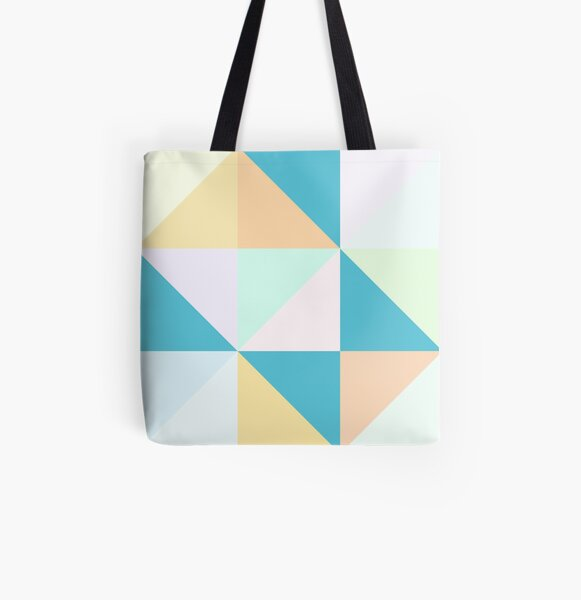 Geometric Creamsicle All Over Print Tote Bag
