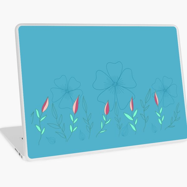 Floral Butterfly Collection Spring Seamless Border Surface Pattern Laptop Skin