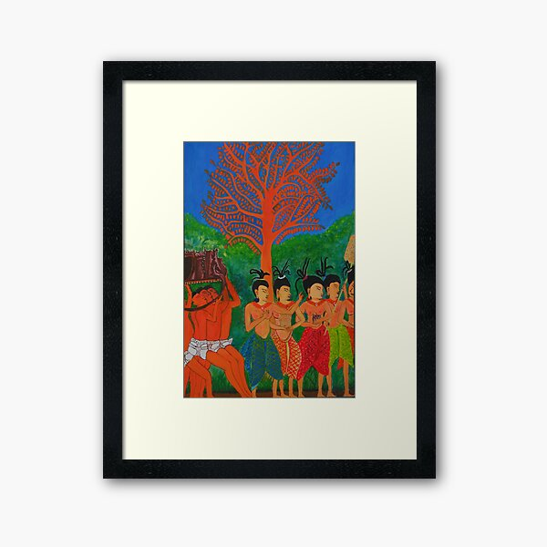 LADIES OF THE COURT by Srey Nao Framed Art Print