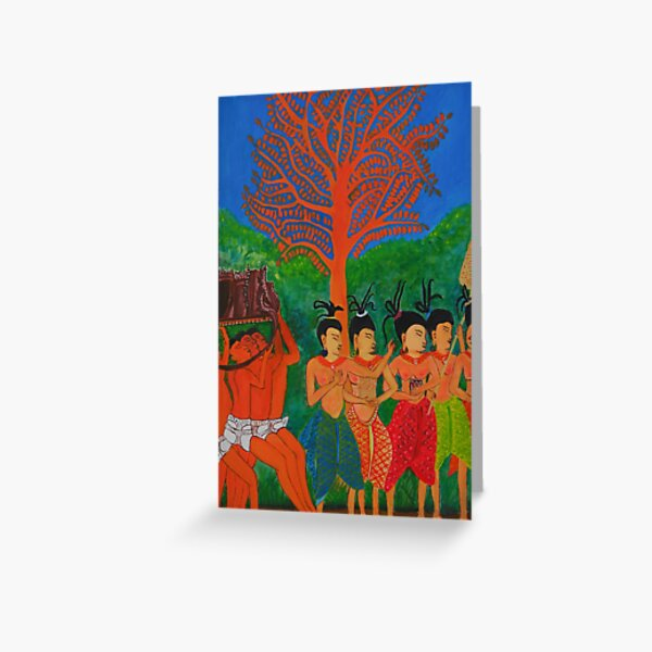 LADIES OF THE COURT by Srey Nao Greeting Card