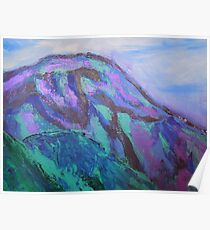 landscape-blue mountains Poster