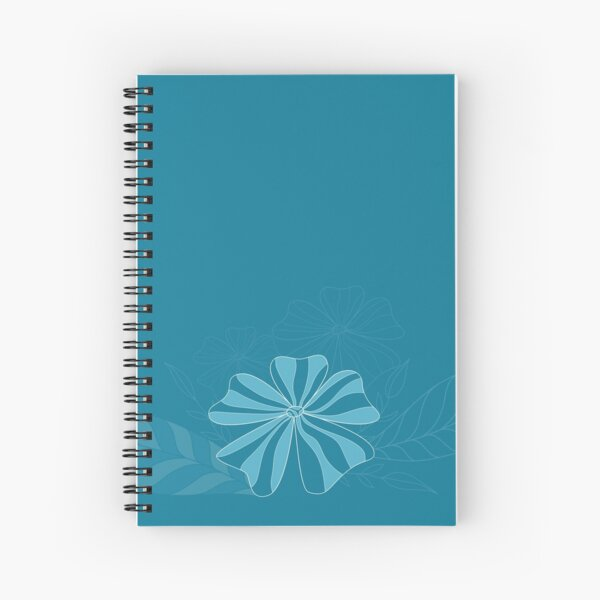 Aleiah Flower Collection Spring Seamless Border Surface Pattern Spiral Notebook