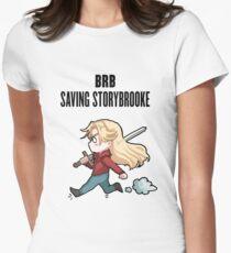 BRB - saving storybrooke Women's Fitted T-Shirt