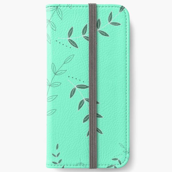 Aleiah Flower Collection Spring Seamless Surface Pattern iPhone Wallet