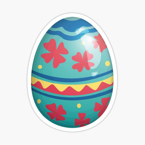 Easter Egg of Peace | Clover Red Blue Yellow Sticker