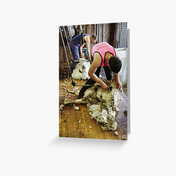 CONTRAST OF SHEARING WORLDS Greeting Card