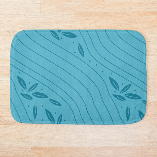 Aleiah Flower Collection Spring Seamless Surface Pattern Bath Mat