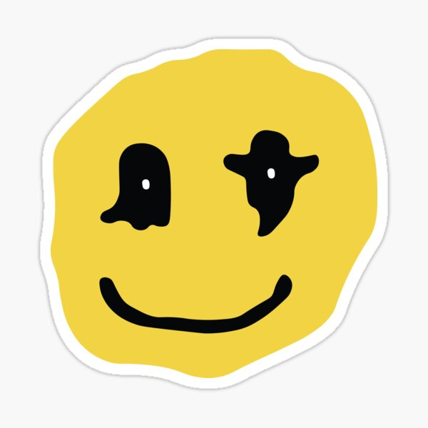 Kids See Ghost Smiley Face Sticker