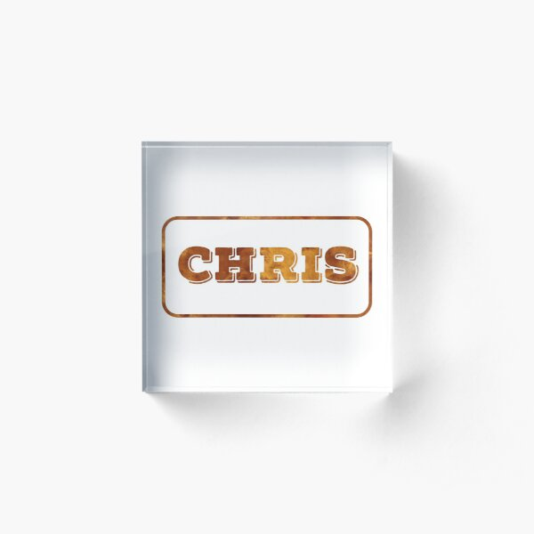 Chris - Red Smoke Edition Acrylic Block