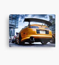 TOYOTA SUPRA - Pimped street car racer Back Metal Print