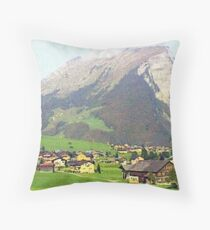 """Village - Reizlern, Austria"" Throw Pillow"