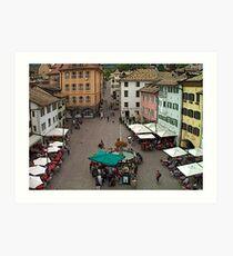 """Streetscape - Caldaro al Lago, Veneto, Italy"" Art Print"