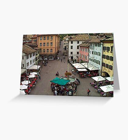 """Streetscape - Caldaro al Lago, Veneto, Italy"" Greeting Card"