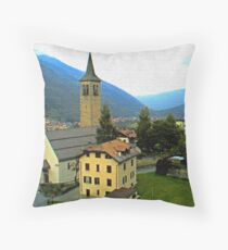 """Church - Vicenza, Ossana, Italy"" Throw Pillow"