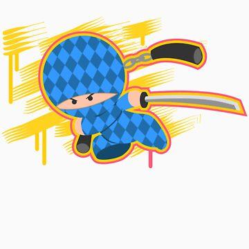 Blue Argyle Ninja by tgil