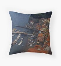 """Marina - Naples, Italy"" Throw Pillow"