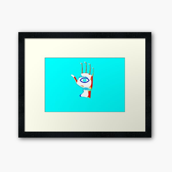 Psychedelic Hand #2 Framed Art Print