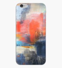 Blue Red Abstract  iPhone Case