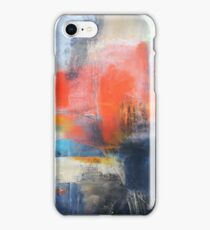 Blue Red Abstract  iPhone Case/Skin