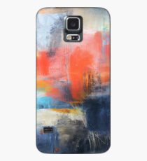 Blue Red Abstract  Case/Skin for Samsung Galaxy