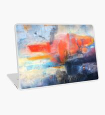 Blue Red Abstract  Laptop Skin