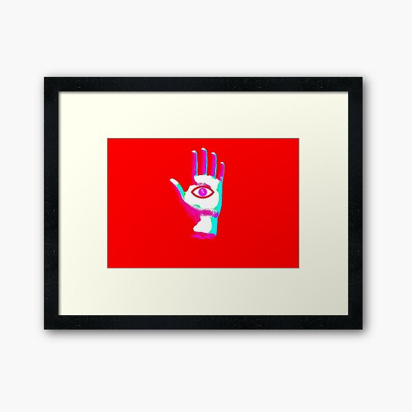 Psychedelic Hand #1 Framed Art Print