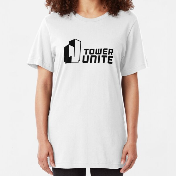 Tower Unite Logo Black Slim Fit T-Shirt