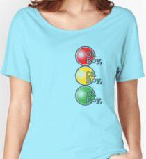Oh Boy traffic light design Women's Relaxed Fit T-Shirt