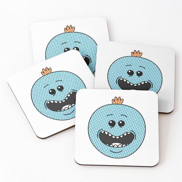 Halftone Meeseeks Coasters (Set of 4)