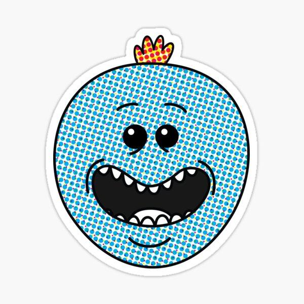 Halftone Meeseeks Sticker