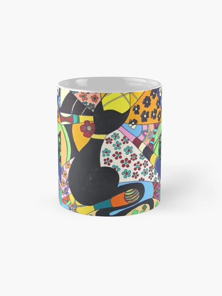 Alternative Ansicht von Lady-Kätz, Katze, cat, in Popart Tasse